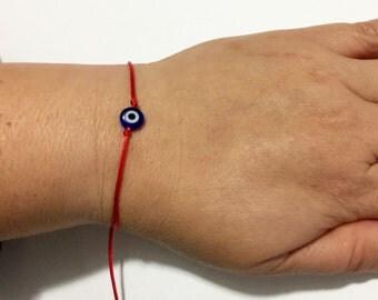Evil Eye Bracelet, tiny evil eye, Protection Bracelet, Gift for her, Petite bracelet, small bracelet, lucky eye jewelry,