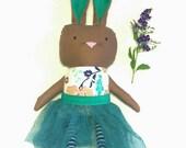 Zoe Bunny ragdoll - Stuffed animal - Cloth rabbit