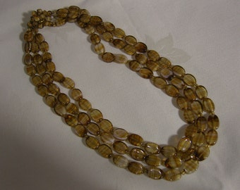Vintage West German Glass Bead Necklace