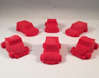 Car & Truck Soap / Transportation Soaps / Car Soaps / Truck Soaps / Set of 6 Soaps / 2.5 oz Soap / Goat Milk Soap / Party Favor