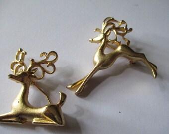 Reindeer Pins  Set of 2
