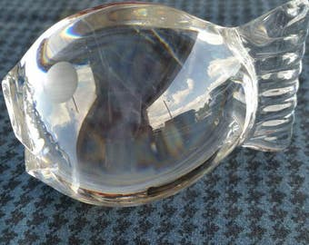 Spode Crystal Fish Paperweight