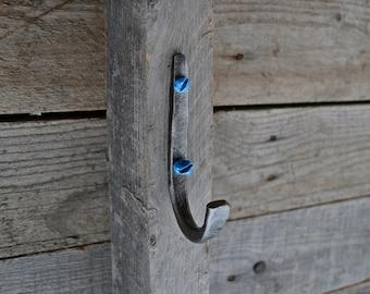 Metal wall hook,Steel wall hook,Hand forged steel iron hook, Metal Hanger, Coat Hook,Funky DIY hooks, Decorative metal wall hook