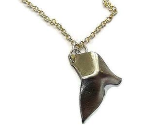 fold formed pewter triangle pendant