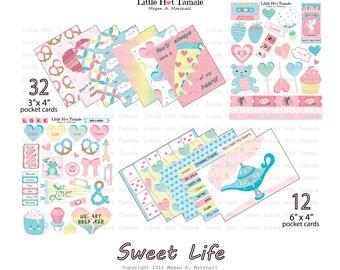 Sweet Life Collection - Digital Download - Little Hot Tamale - Pocket Cards - Scrapbook