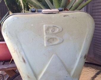 On Sale Vintage Brunswick Bowling Ball Bag Case Blue Hard Case