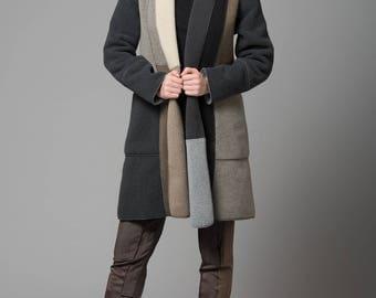 50% OFF! Cameleon fleece Sylvia cardigan duster coat | Taupe Charcoal Gray Slate Gunmetal Pearl Black | S M L XL | Free Ship