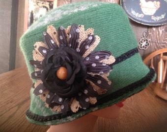 Women's Cloche, Fedora, Bucket, Wool, Recycled Sweater Hat