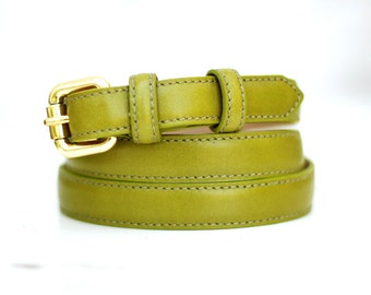 Free shipping! Leather belt, green leather belt, dark green belt, womans belt, waist belt, green leather belt, belt for pants