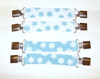Snowflake Boot Clips 2 Boot / Pant Clips Guards Stirrups Strong Durable FOE~ can be used as  Mitten Clips Boot Mitten Blanket Clip