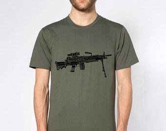 KillerBeeMoto: Limited Release M249 LMG Light Machine Gun Short or Long Sleeve T-Shirt