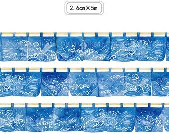 Japanese Door Curtain~ Washi Tape  -Masking Deco tape-- 26mm x 5M