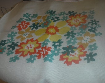 wool needlepoint vintage