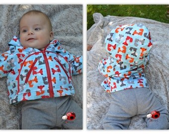 Baby jacket with foxes 3-6 month