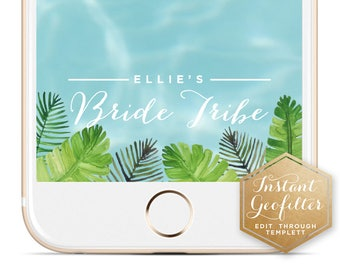 Tropical Bride Tribe Bachelorette Snapchat Geofilter | Custom Geofilter | Birthday Geofilter | Bridal Shower Geofilter | Instant Geofilter