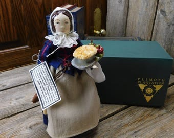 Vintage Folk Art Doll -  Mary C. Michaud - Art Doll - Woman Baking
