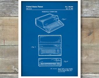 Patent Prints, Apple Computer, Patent Print, Wall Decor, Computer Decor, Vintage Computer, Apple Patent, Steve Jobs Patent, P480