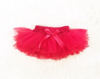 Baby girl Tutu, RED tutu bloomers, birthday tutu outfit, red tutu, Valentine's Day tutu, Cake Smash outfit.