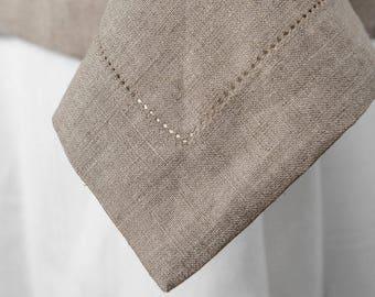 Gray Linen Tablecloth, Table cover, Linen table top, Linen table cover, Natural Linen Tablecloth, Flax Tablecloth, European Linen Flax Cloth