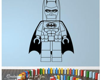 Lego Batman SVG DXF AI eps pdf cdr cutting files Silhouette Studio, laser machine, party decoration, wall decal template