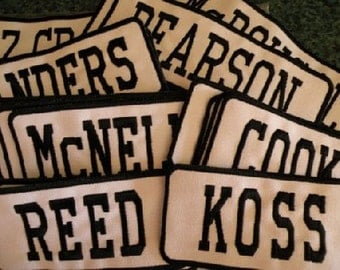 Custom order Iron on Name Patch Name Patch Large size for Stocking, Duffle bags, Back Packs Cedar Creek Patch Shop