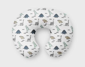 Nursing Pillow Cover Neutral Dinosaur. Nursing Pillow Cover. Dinosaur Boppy Cover. Teal Dino Cover. Baby Bedding. Nursing Pillow Cover.