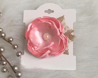 Pink Singed Flower Headband | Baby Headband | Nylon Headband | Newborn Headband