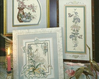 Stoney Creek:  Far Eastern Floral and Floral Potpourri Cross Stitch Booklets