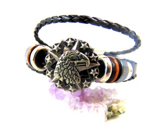 Men's Aigle Ethnic Leather Bracelet for Men