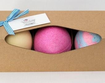 Trio Jumbo Bath Fizzy Gift Set, Bath Bomb Box