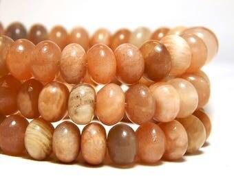 8x5mm Sunstone Gemstone Beads, 8x5mm Sunstone Rondelles, Sunstone Beads, Rondelles Gemstones, Sunstone Donut Beads, Natural Beads, B-28A