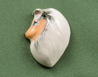Blue Merle Sheltie Pin