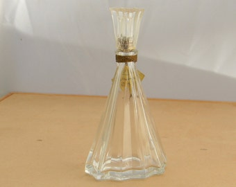 """Vintage INTOXICATION By D'Orsay 4 1/4"""" Glass Perfume Bottle & Clear Top"""