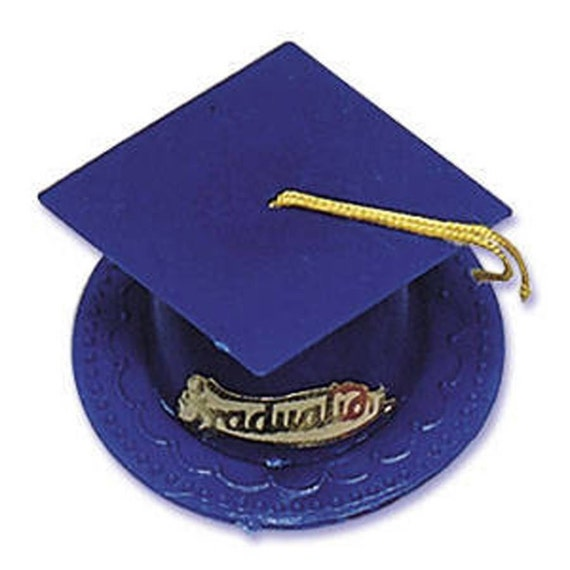 Blue Graduation Cap Hat Cake Kit Toppers Decorations Party Favors From MnMFabFindsShoppe On Etsy Studio