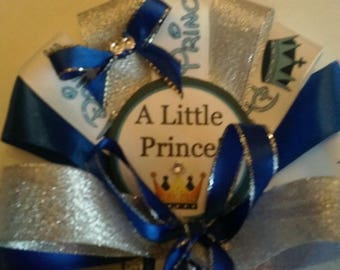 Royal Prince Blue Mommy To Be Baby Baby shower corsage