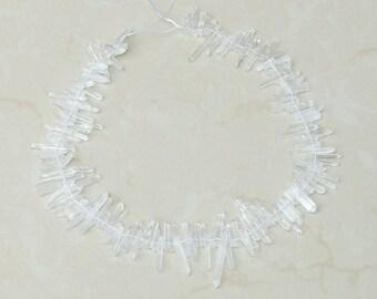 Super Extra Thin Clear Quartz Crystal. Full Quartz Strand - Raw Quartz Crystal Points - Natural Quartz Points - Random Lengths - 15mm - 30mm