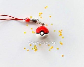 Pokemon 'Pokeball' - Polymer Clay Charm