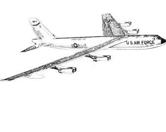 B-52 Drawing T shirt