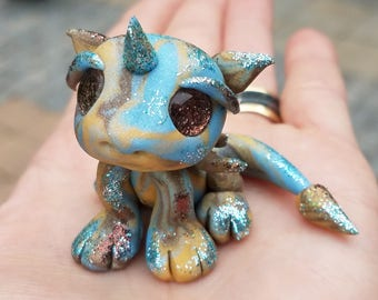 Meet Starlord! Baby dragon, fantasy art, dragon sculpture, dragons, baby dragons, magical, fantasy, mythical creatures, sparkles, figurine