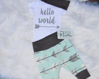hello world outfit, hello world newborn outfit, hello world boy outfit, boy coming home outfit, boy take home outfit, hello world take home
