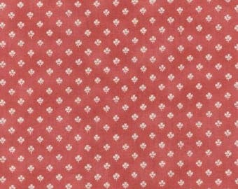 """Small Floral Sprig Fabric, Rose Pink, Coral Pink, """"A"""" is for Annabelle Fabric from RJR Fabrics"""