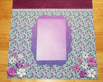 Mother's Day Scrapbook Layout - Mother's Day Scrapbook Page - 12 X 12 Scrapbook - Premade Layout - Grandma - Grandmother - Nana