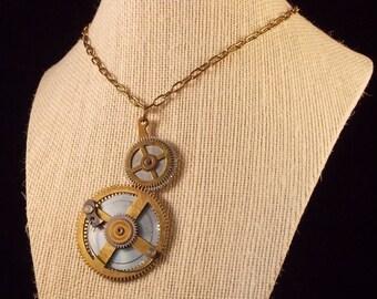 """Steampunk Pocket Watch Necklace 24"""" Chain"""