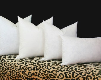 90/10 feather down pillow inserts 100% cotton cover 16x16 18x18 20x20 22x22 24x24 26x26 28x28 30x30 Euro down insert Lumbar down insert