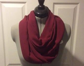 infinity scarf chiffon burgundy women teens neckwrap mothers day birthday gift for mom