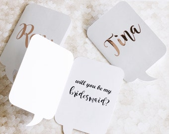 Rose Gold Personalized Card - Bridesmaid Proposal Card - Custom card - Matron of honor Card - Bridal Party Proposal - Maid of honor Card