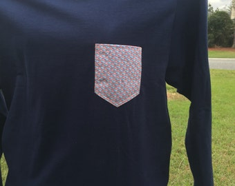 Ready to Ship Vineyard Vines Long Sleeve Pocket Tee
