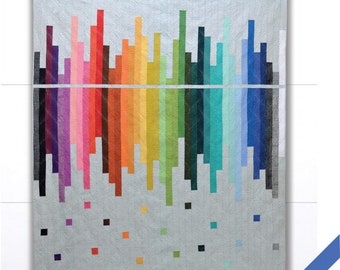 Skyline Reflected Quilt pattern designed by Hunter Design Studio