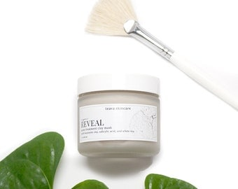 Acne Mask - Natural Clay Mask - Treat Acne and Reduce Oil - Organic White Tea, Bentonite Clay, and Salicylic Acid - Natural Acne Treatment