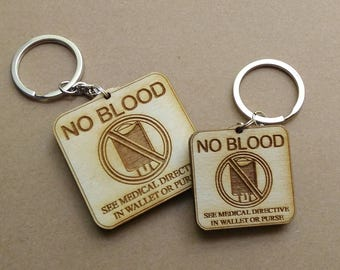 No Blood Keychain